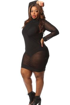 Plus Size Mesh Midi Dress w/ Bodysuit Insert Availability: In stock.  $56.95 - See more at: http://www.pinkclubwear.com/plus-size-mesh-midi-dress-w-bodysuit-insert.html#sthash.0COgha4j.dpuf