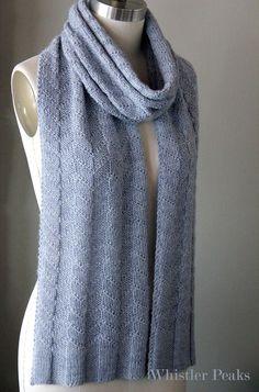 Whistler Peaks Scarf Knitting pattern by Monika Anna - Knitted Scarf 4 Easy Scarf Knitting Patterns, Mittens Pattern, Knit Patterns, Knitting Ideas, Knit Basket, Purl Stitch, Slip Stitch, Diy Scarf, Knitted Shawls