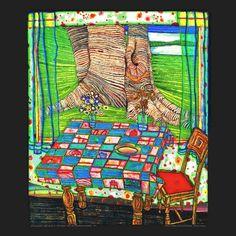 Hundertwasser - Isle of the Lost Wishes, c.1975