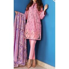 Baby Pink Embroidered Cambric Dress Contact: (702) 751-3523  Email: info@pakrobe.com  Skype: PakRobe