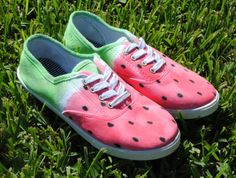 Watermelon Keds! They're on Etsy, but could easily be DIY