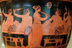 Kapeleion: casual and commercial wine consumption in classical Greece - History of the Ancient World Classical Greece, Greek Pottery, Art Antique, Greek Music, Greek Culture, Minoan, Greek Art, Pottery Painting, Nocturne