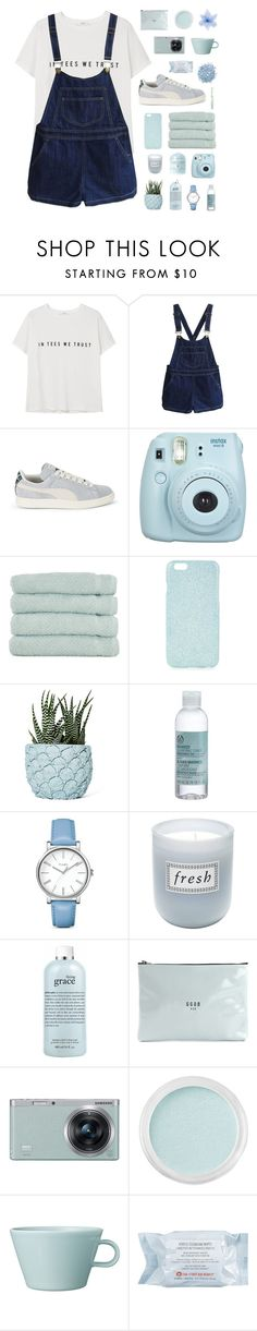 """it's such a cruel world"" by jo-ellehadi ❤ liked on Polyvore featuring MANGO, Chicnova Fashion, Puma, Fujifilm, Linum Home Textiles, Topshop, Chen Chen & Kai Williams, The Body Shop, Timex and Fresh"