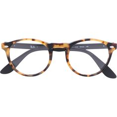Ray-Ban round glasses ( 215) ❤ liked on Polyvore featuring accessories,  eyewear, eyeglasses, black, round glasses, round eyeglasses, ray ban  eyeglasses, ... 15e4b7bf5a5a
