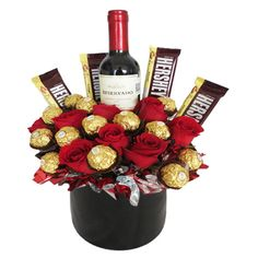 Food Bouquet, Candy Bouquet, Balloon Flowers, Diy Flowers, Paper Flowers, Valentines Day Baskets, Valentine Day Gifts, Fruit Flower Basket, Beer Basket