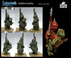 The Labyrinth Board Game from River Horse is coming closer to being a reality and with that in mind they have shared an image of the Goblin Cavilry. Labyrinth Goblins, Labyrinth Movie, Music Artwork, Fantasy Movies, Jim Henson, Fantasy Miniatures, Show Horses, Gnomes, Sculpting