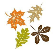 Fensterbilder Herbst Deko Ideen befestigen Vorlage