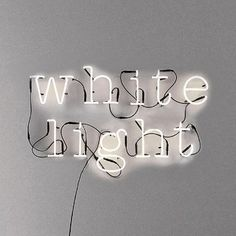 Neon lights A to Z and also symbols ! @ and number's If you've got something to say, why not say it in lights? Get your message across with these neon let Dot And Bo, Pure White, White Light, Shades Of White, Lettering, White Aesthetic, Neon Lighting, Letters And Numbers, Metal Letters
