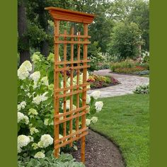 Grande Mission 30 in. x 71.5 in. Cedar Trellis-GLCP-0121 - The Home Depot#cedar #depot #grande #home #mission #trellisglcp0121 Cedar Trellis, Trellis Fence, Diy Trellis, Garden Trellis, Garden Plants, Building A Trellis, Obelisk, Flower Trellis, Trellis Panels