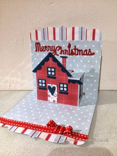 Old Red Shed: Merry Christmas pop 'n' cut house card. Xmas Cards To Make, Pop Up Christmas Cards, Christmas Pops, Christmas Crafts, Merry Christmas, Christmas Ideas, Crafters Companion Cards, Paper Craft Making, Pop Up Box Cards
