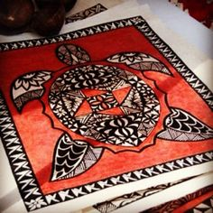 Tongan Tapa Cloth Art...Turtoise