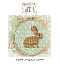 Bunny Cross Stitch Pattern Instant Download di Sewingseed su Etsy