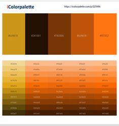 Skin Color Palette, Color Palettes, Color Charts, Color Patterns, Color Combinations, Color Schemes, Color Palette Challenge, Hex Color Codes, Pumpkin Colors