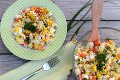 Tip na večeru bez výčitiek? Daj si chrumkavý karfiolový šalát | Fitshaker.sk Cobb Salad, Food And Drink, Vegetables, Tips, Recipes, Vegetable Recipes, Ripped Recipes, Cooking Recipes