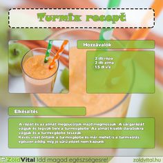 Alma sárgarépa turmix recept #recept #turmix #smoothie Petra, Smoothie Recipes, Cantaloupe, Food And Drink, Fruit, Drinks, Health, Bricolage, Drinking