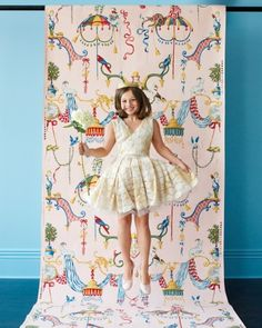 Whimsical photo op created out of wallpaper
