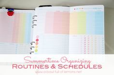 Summertime Organizing: Create ROUTINES & SCHEDULES via A Bowl Full of Lemons