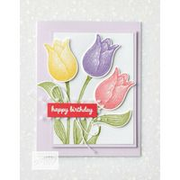 Create this beautiful card using the Timeless Tulips stamp set and Tulip Builder Punch from Stampin' Up! Homemade Birthday Cards, Homemade Cards, Hand Stamped Cards, Stamping Up Cards, Get Well Cards, Paper Cards, Flower Cards, Making Ideas, Cardmaking