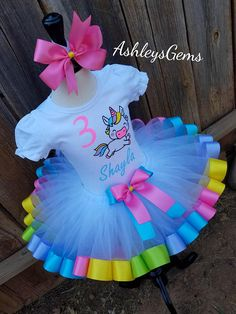 Unicornio cumpleaños traje Tutu Unicornio unicornio