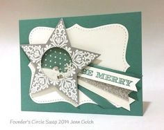 Mary Fish, Stampin' Pretty The Art of Simple & Pretty Cards Christmas Paper Crafts, Stampin Up Christmas, Handmade Christmas, Holiday Cards, Christmas Cards, Christmas Ideas, Pinterest Cards, Star Cards, Men's Cards