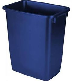 Rubbermaid 1791161 Kitchen Wastebasket, Plastic, Royal Blue, 21 qt