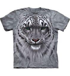 Snow Leopard Portrait T-shirt  Het The Mountain Snow Leopard Portrait t-shirt is gemaakt op basis van een handgekleurd Tye Dye T-shirt. Het T-shirt is gemaakt van 100% Katoen.  EUR 48.99  Meer informatie
