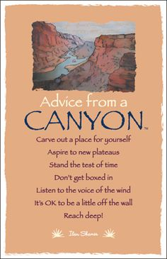 Book of Shadows: #Advice from a #Canyon.