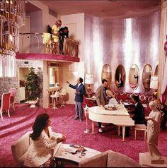 Vintage Vegas hotel room interior