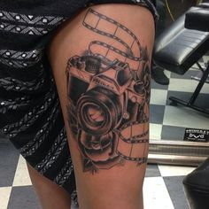Camera Tattoo Nikon Film Rose Photography Photographer Neo-Traditional @Nikishootsstuff