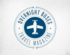DanielleFritz on logopond - overnight buses airplane seal - icon can be swapped w other travel icons
