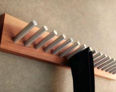 Modern Rustic Tie Rack Belt Rack Metal And By Andrewsreclaimed