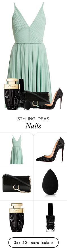 """""""175"""" by scarlett-anon on Polyvore featuring Elie Saab, Chloé, Christian Louboutin, Azature and beautyblender"""