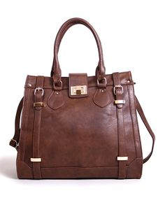 Take a look at the Hazelnut Double Buckle Tote on #zulily today!