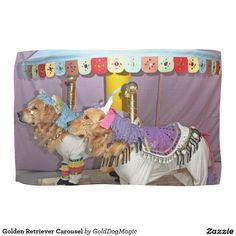 Golden Retriever Carousel Hand Towels