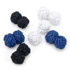Basic Nautical Silk Knot Cufflinks
