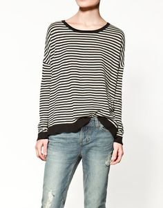 striped sweater @ zara