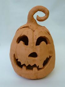 The Calvert Canvas: Adventures in Middle School Art!: Coiled Terra Cotta Clay Pumpkins