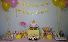 RUBBER DUCKY BABY SHOWER FOR A GIRL