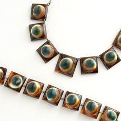 Art Deco Operculum Necklace Tortoiseshell  Aquatic by pinguim, $180.00