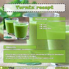 Egy finom kiwis zöld turmix receptje.