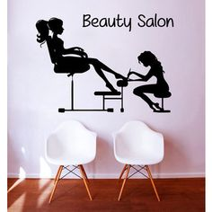 Manicure Pedicure Beauty Salon Sticker Vinyl Wall Art