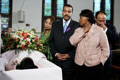 Funeral of Coretta Scott King, 2006-In this Monday, Feb. 6, 2006 file photo, from left, Yolanda King, Dexter Scott King, the Rev. Bernice King and Martin Luther King III pay tribute to their mother, Coretta Scott King, as she lies in honor in the historic Ebenezer Church on Auburn Avenue in Atlanta
