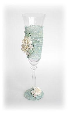 "Свадебные бокалы ""Богемия"". Handmade."