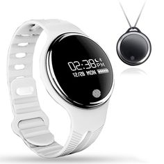 Fitness Tracker Activity Wristband, Necklace Waterproof Bluetooth Bracelet, EIISON White. SMARTWATCH AND FITNESS TRACKER: Track your steps taken, sleeping hours, and calories burned all day, every day (24/7). You can also manage your fitness by setting daily goals and track your performance by viewing daily, weekly and monthly summaries. Battery life lasts for 10 days on a single charge. WATERPROOF: IPX7 rated smart bracelet that can be immersed in water for up to 30 minutes at a time....
