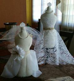 Maniquie Decorativo/Alfiletero Rustic Wedding, $20