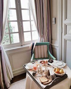 Breakfast at @la_mirande Vienna, France, Curtains, Breakfast, Instagram Posts, Home Decor, Morning Coffee, Room Decor, Draping