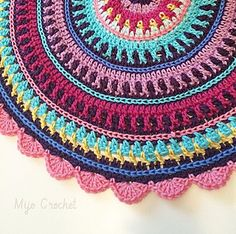 All colors mandala..free pattern! This mandala can be made with any kind of yarn, but I prefer mercerized cotton 8/4 and hook 3.0 mm.