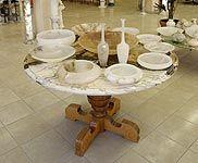 plates, vases in alabaster