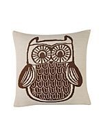 Owl knitted cushion