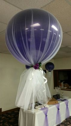 The tulle covered balloons turned out amazing! I was so excited they turned out!